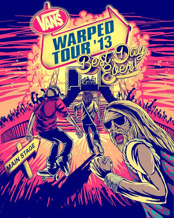 Vans Warped Tour: Vans Warped Tour @ Cruzan Amphitheatre. 7/27. West Palm